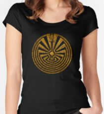 Man in the Maze, Journey through life, I'itoi, Papago Women's Fitted Scoop T-Shirt