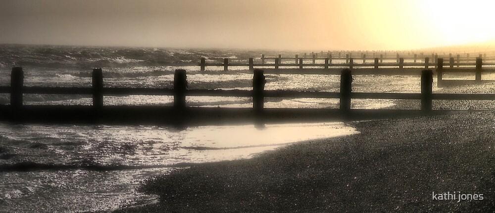 beach sunset by kathi jones