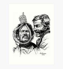 "Eli Wallach Franco Nero movie poster ""Long Live Your Death"" western Art Print"