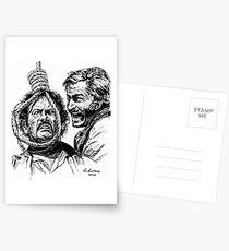 "Eli Wallach Franco Nero movie poster ""Long Live Your Death"" western Postcards"