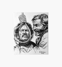 "Eli Wallach Franco Nero movie poster ""Long Live Your Death"" western Art Board"