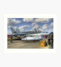 RAAF FA-18 Art Print