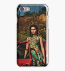 Selena Red Car Gomez Flowers iPhone Case/Skin
