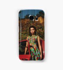 Selena Red Car Gomez Flowers Samsung Galaxy Case/Skin