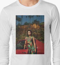 Selena Red Car Gomez Flowers Long Sleeve T-Shirt