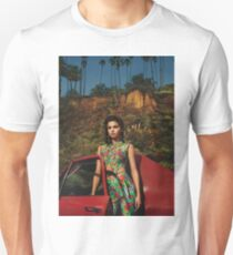 Selena Red Car Gomez Flowers T-Shirt