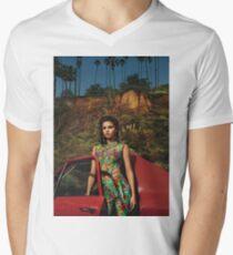 Selena Red Car Gomez Flowers T-Shirt