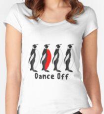 Penguin Dance Off Women's Fitted Scoop T-Shirt