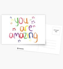 Du bist erstaunlich Postkarten