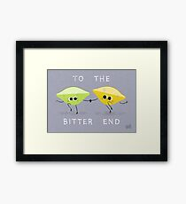 To The Bitter End Framed Print
