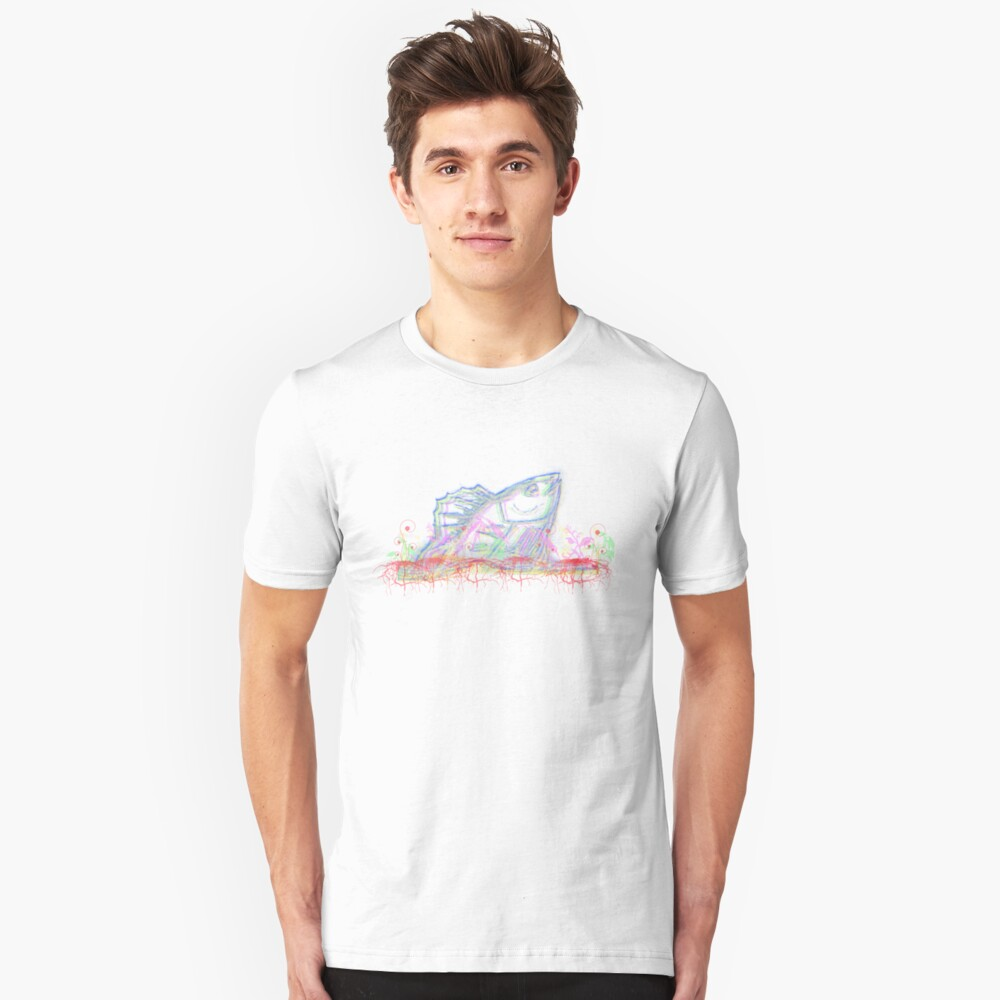 Drowning Fish Unisex T-Shirt Front