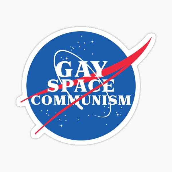 Parodia de la NASA Gay Comunismo Espacial Pegatina