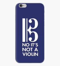 No It's Not A Violin - Alto Clef - Viola Gifts iPhone Case