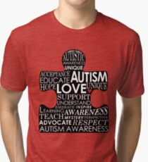 Autism Awareness Love Tri-blend T-Shirt