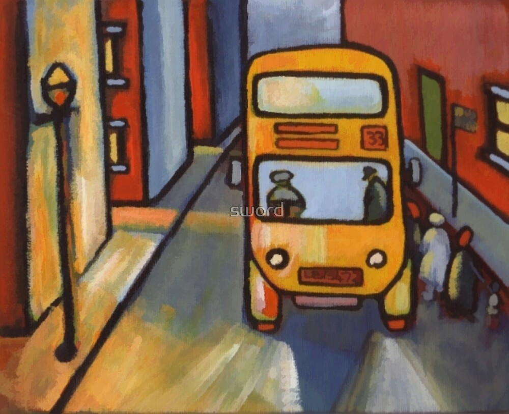 The bus stop by sword