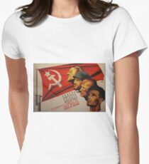 Spanish Civil War Poster - Socialist Party of Catalonia (1930s) Womens Fitted T-Shirt