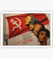 Spanish Civil War Poster - Socialist Party of Catalonia (1930s) Sticker