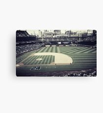 A day at the Baseball Field Canvas Print