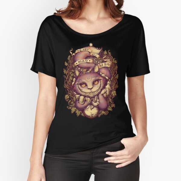 mit Cheshire Cat Loose Fit T-Shirt