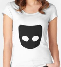 Grindr Logo Black Women's Fitted Scoop T-Shirt