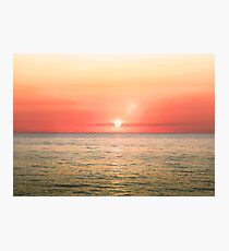 Beautiful blazing sunset landscape on a sea Photographic Print