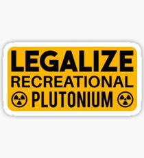 LEGALIZE RECREATIONAL PLUTONIUM RECTANGLE STICKER Sticker