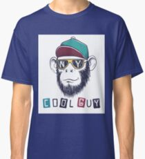 cool monkey chimpanzee dressed in sunglasses Classic T-Shirt