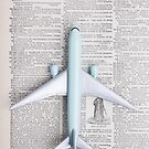 Toy Airplane Over Book by Edward Fielding