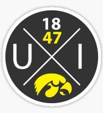 Iowa Hawkeyes Circle Sticker