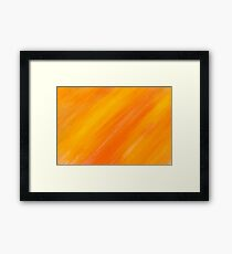 yellow and orange painted texture Framed Print