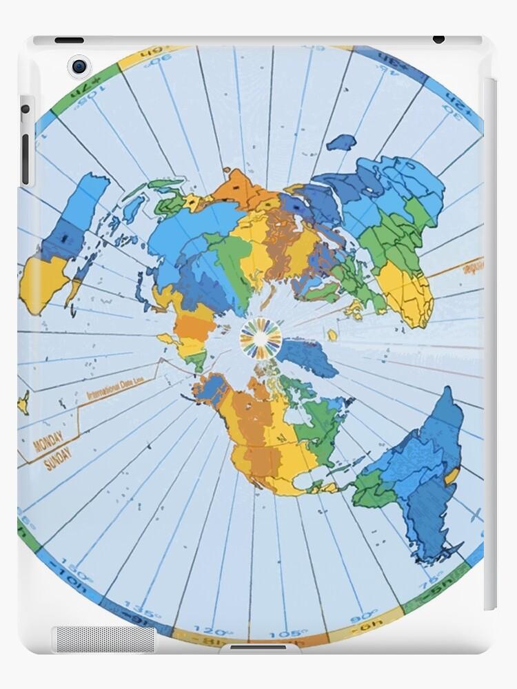 Flache Erde Karte Kaufen.Flat Earth Designs Flache Erde Karte Ausgezeichnete Farben Ipad Hulle Klebefolie Von Flatearth1111