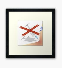 stop drugs Framed Print