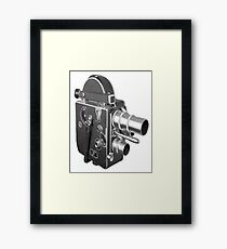 Camcorder, Retro, Video Kamera, Framed Print