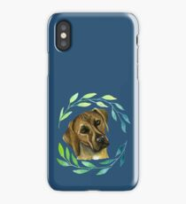 Rhodesian Ridgeback with a Wreath Watercolor Painting iPhone Case/Skin