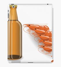 bootle of beer and shrimp iPad Case/Skin