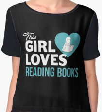 This Girl Loves Reading Books Women's Chiffon Top