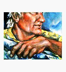 Portrait of Rick, Granite Sculptor Photographic Print