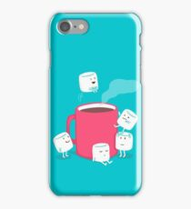 hot chocolate and marshmallows  iPhone Case/Skin