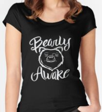 Bearly Awake - Hibernation Funny Bear Sleeping  Women's Fitted Scoop T-Shirt
