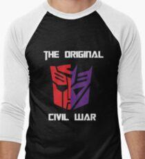 Original Civil War with White Font Men's Baseball ¾ T-Shirt