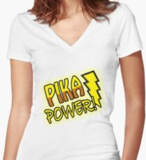 PIKA POWER Women's Fitted V-Neck T-Shirt