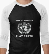 Dare to Research Flat Earth - Flat Earth Theory Map Logo Classic T-Shirt