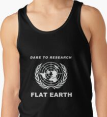 Dare to Research Flat Earth - Flat Earth Theory Map Logo Classic Tank Top