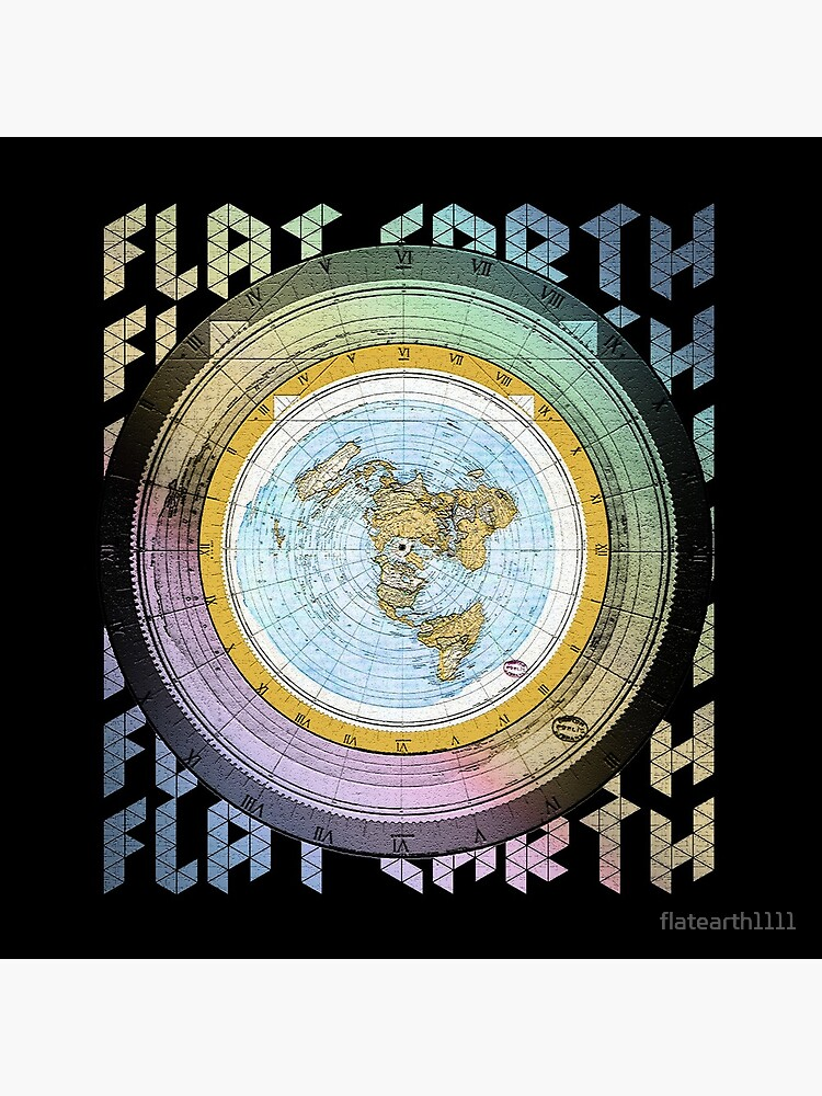Flat Earth Designs - Flat Earth Map Azimuthal Equidistant Projection de flatearth1111