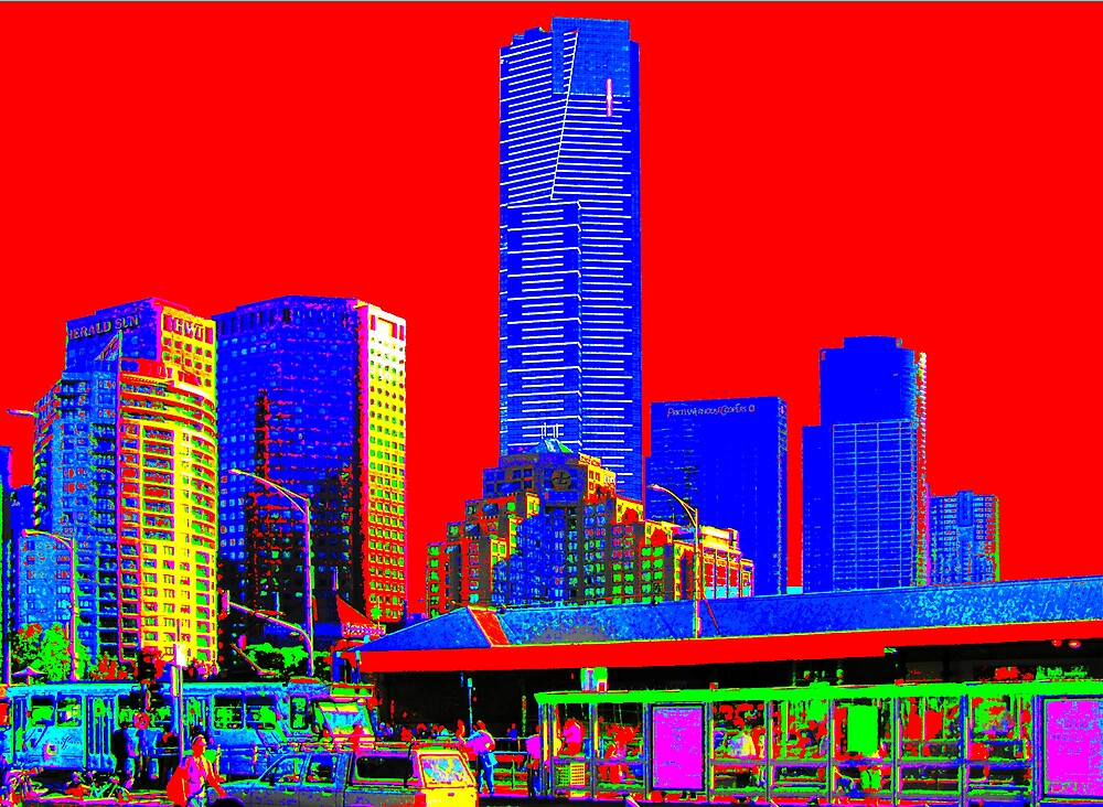 Melbourne Skyline by Paul Kiesskalt