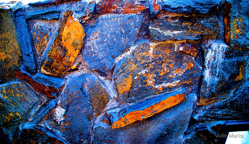 Blue Stone Art by Julie Marks