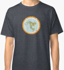 Flat Earth Map - (Azimuthal Equidistant Projection Map) - Beautiful Classic T-Shirt