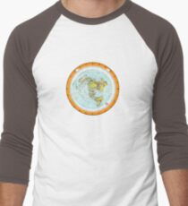 Flat Earth Map - (Azimuthal Equidistant Projection Map) - Beautiful T-Shirt