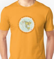 Flat Earth Map - (Azimuthal Equidistant Projection Map) - Beautiful Unisex T-Shirt