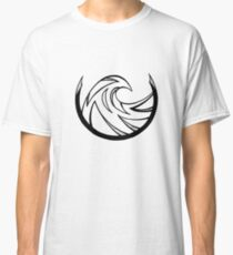 Black and White Ocean Waves Classic T-Shirt